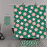 Uhoo Bathroom Suits & Shower Curtains Floor Mats And Bath TowelsCasino Decorations Stylized Poker Chips Pirate Symbols Money Sword Cross Bone Skull Risk For Bathroom