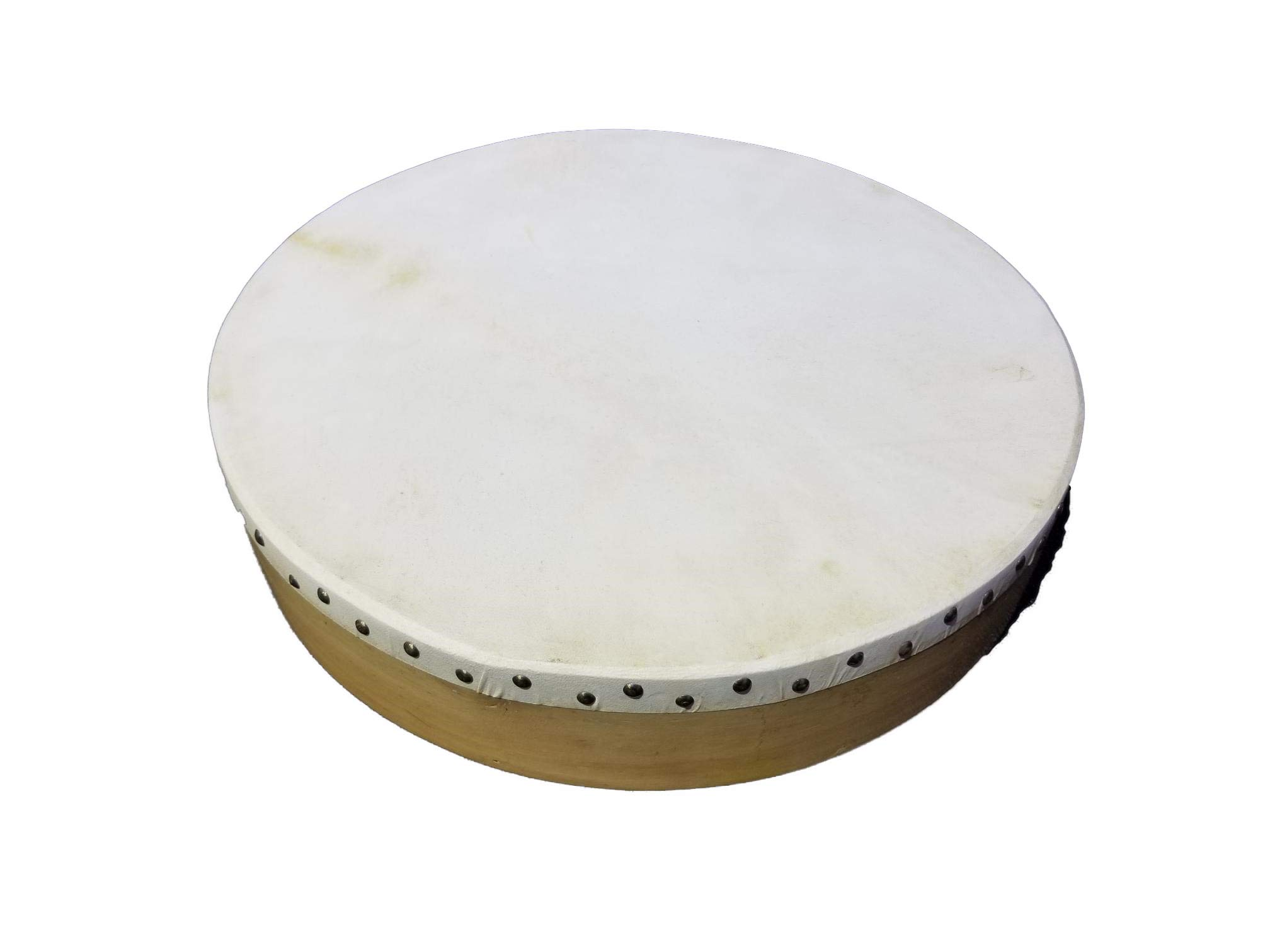 Bodhran Natural 18' with Tipper, Celtic/Irish Style, Gig Bag Included, B18 NATURAL by MAS Pro