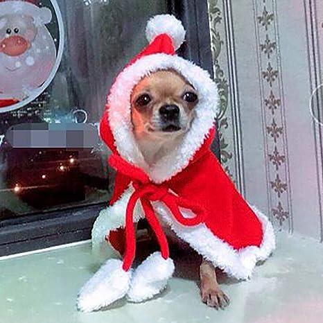 Homemust Pet Disfraces de Navidad Traje de Perro con Gorra ...