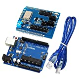 Gowoops ESP8266 Web Server Serial Port WiFi Shield Expansion Board ESP-13 and UNO R3 ATmega328P Development Board For Arduino with USB cable