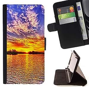 Momo Phone Case / Flip Funda de Cuero Case Cover - Puesta de sol Mar Beautiful Nature 19 - Apple Iphone 5C