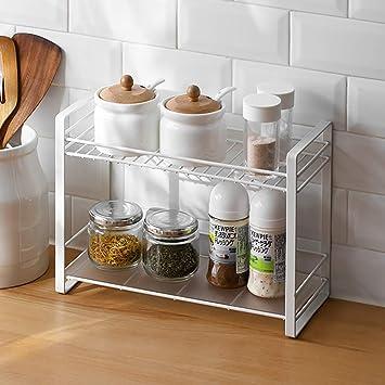 2-Tier küchen organizer Gewürzregale, Baffact Gewürzregale für ...