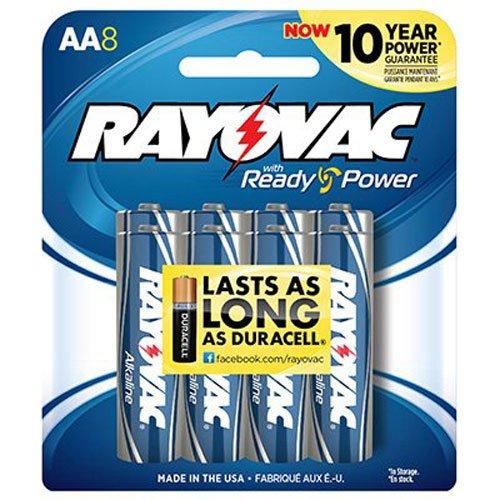 Rayovac Alkaline Batteries Size Pack