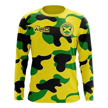 ffafd6fe1 Amazon.com : Airo Sportswear 2018-2019 Jamaica Long Sleeve Home Concept  Football Soccer T-Shirt Jersey : Sports & Outdoors