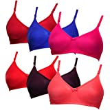 Softskin Seamless Non Wired Tshirt Bra (Pack of 6)