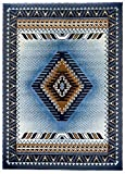 Rugs 4 Less Collection Southwest Native American Indian Area Rug Design R4L 143 Light Blue (5'2''x7'2'')