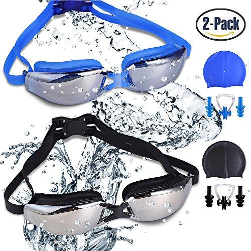RIHACHAN Swim Goggles, Swimming Goggles Leak Fr...