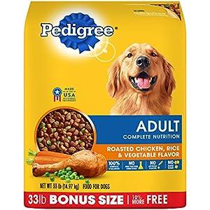 Pedigree Complete Nutrition Adult Dry Dog Food Roasted Chicken, Rice & Vegetable Flavor, 33 Lb. Bag 108