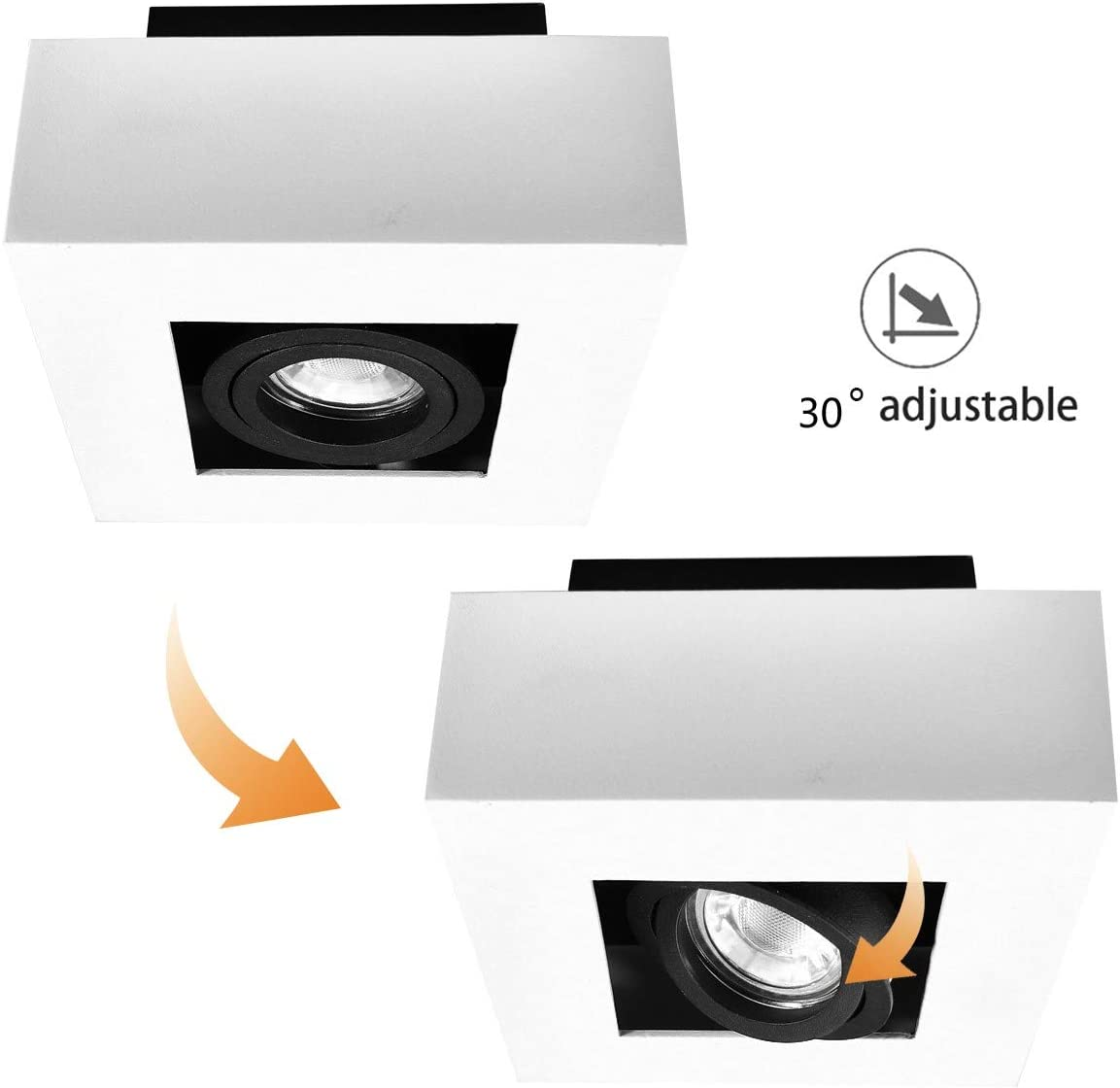 enthalten 5W leuchtmittel, schwenkbar Strahler Spotlight Downlight Ceiling light Budbuddy LED Aufbaustrahler Aufbauleuchten Aufputz Deckenlampe Deckenleuchten GU10 Fassung 230V