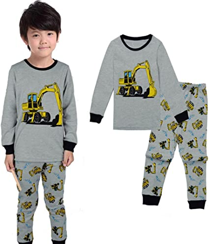 kaiCran Baby Clothes Boys,Baby Boys Long Sleeve Elephant Striped Print T-Shirt Tops Pants Outfits Sets Casual Clothes