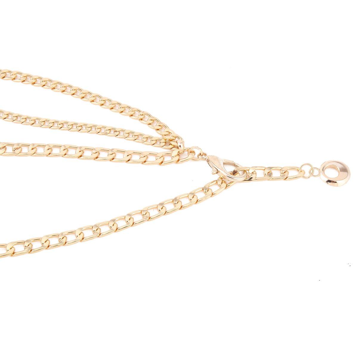 Damara Fino Cinturón Correa Cintura Cadena De Metal Para Mujer ... dde16831ae52