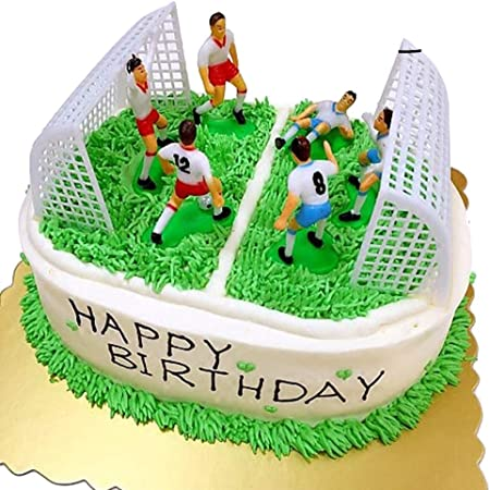 Pleasant Stobok Plastic Cake Topper Football Player Figure With Gate Cake Personalised Birthday Cards Paralily Jamesorg