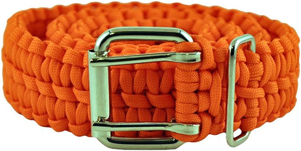 Straight Bar Orange Paracord Belt