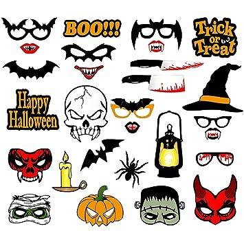 Máscara de Halloween para decoración de Fotos, Bates de Bruja para niños, Hombres, Accesorios de Fiesta, 10#, Talla única: Amazon.es: Hogar