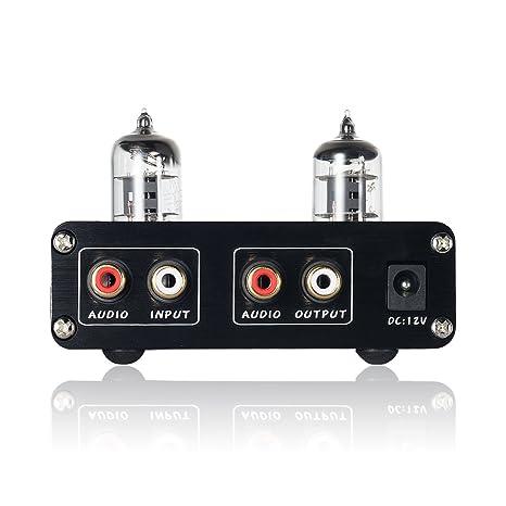 nobsound HiFi 6j1 vacío Tubo preamplificador estéreo preamplificador Digital Agudos & Bass Tone Control (Negro)