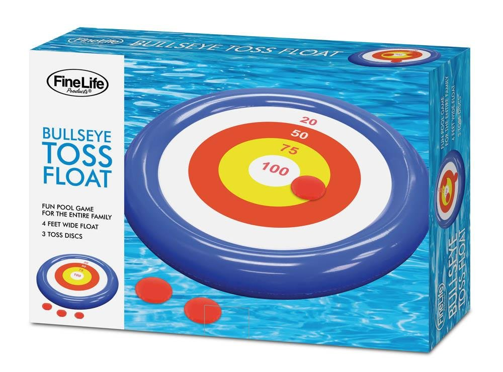 Pool Floats for Toddlers, Plastic Floating Pool Games Bullseye Toss (Sold by Case, Pack of 6)