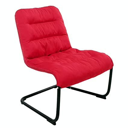Zenree Comfy Dorm Bedroom Chairs Teens Girls Chair Leisure For Living Room Colleage Decor Classroom Apartment Guest S Room Red