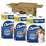 Charmin Ultra Soft Toilet Paper, Family Mega Roll with Cushiony Touch (5x More Sheets*), 24 Count