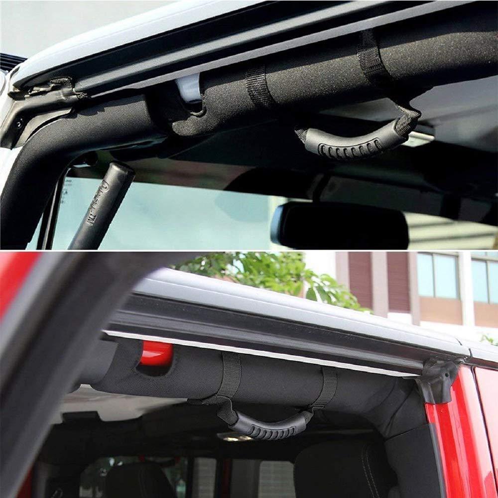 JollyJelly 4 Pack Roll Bar Haltegriffe f/ür Jeep Wrangler YJ TJ JK JK JL JLU Sport Sahara Freiheit Rubicon X Unlimited 1995-2018 Automotive Interior Autozubeh/ör Haltegriffe