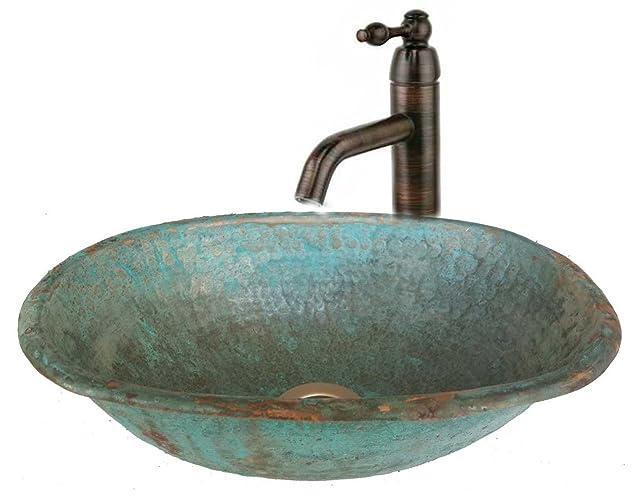 Amazon.com: Egypt gift shops Oval Oxidized Verdigris Copper Bath ...