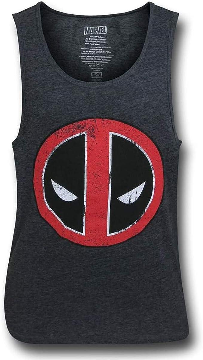 Marvel Comics Bullseye Deadpool Blanc Homme Tank Top Shirt