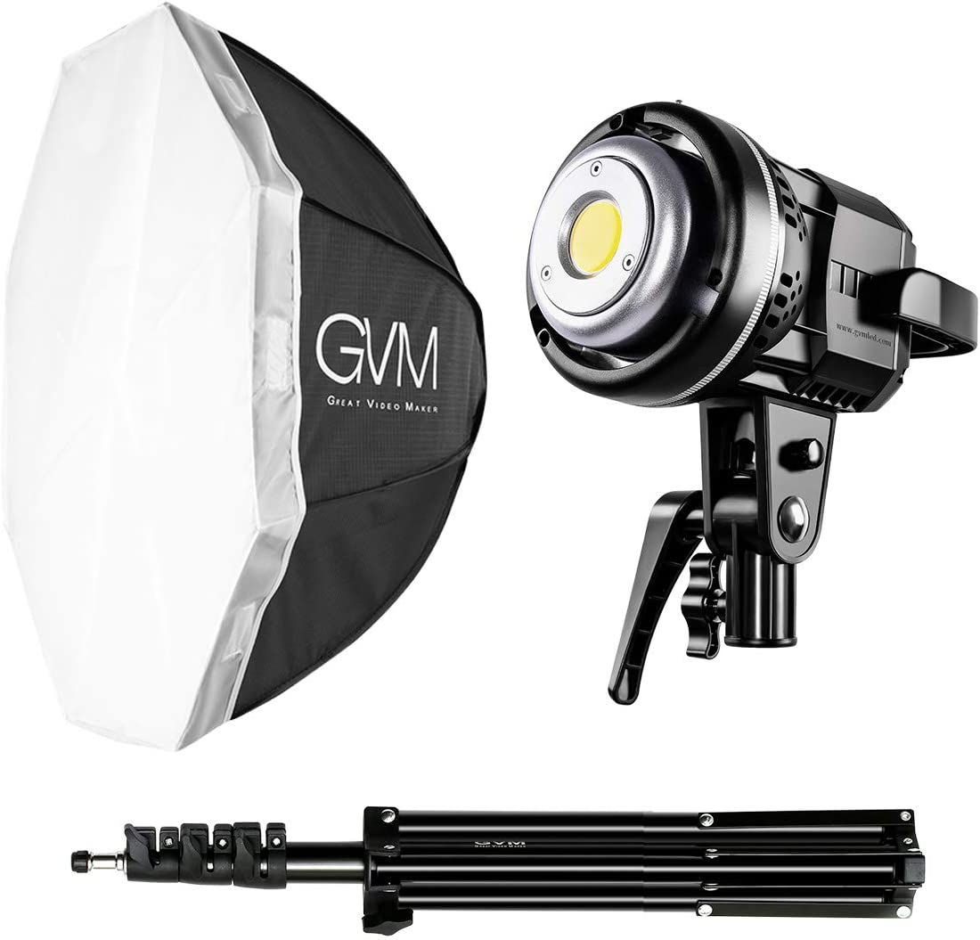 GVM Softbox Lighting Kit Professional Studio Photography Continuous Equipment with 80W 5600K for Portrait Product Fashion Photography