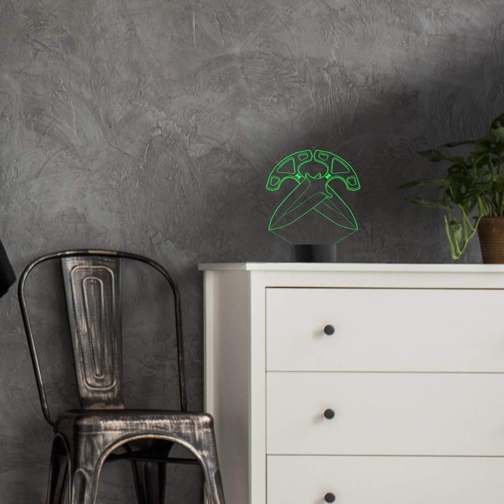 SSG 08 Geschenk Stimmungslicht Acryl Illusion Dekoration Dekolicht 3D LED Lampe CSGO Nachtlicht Leuchte 7 Farben Elbeffekt