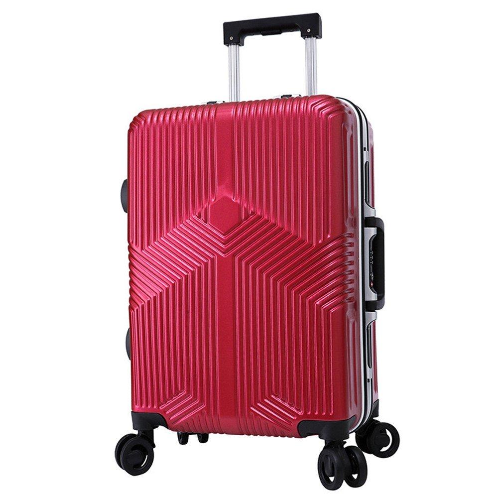 プレミアム回転アルミフレームスーツケースユニバーサルホイールPCプルロッドボックス20インチ24インチ 耐摩耗輸送ボックス (サイズ : 20) B07RTVV2Q2  20