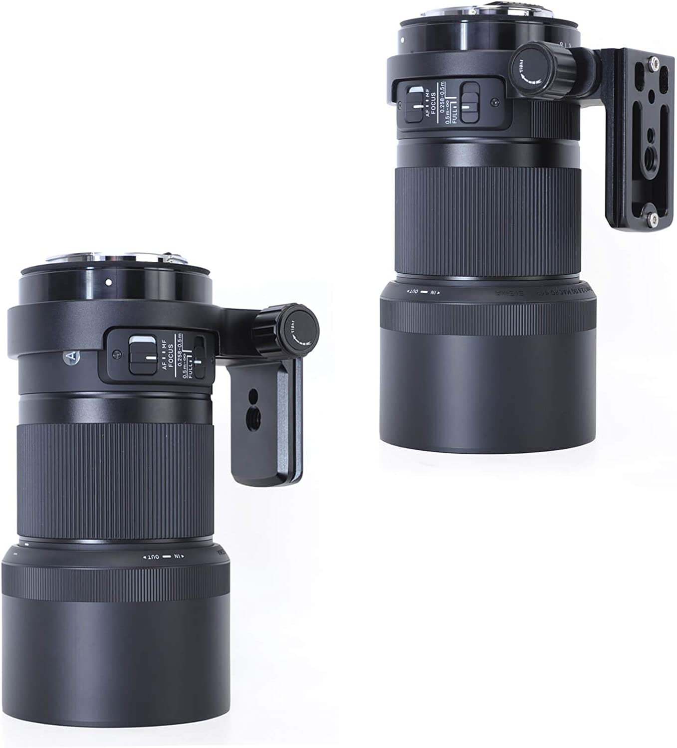 Compatible with Tripod Ball Head of Arca-Swiss Type of Canon EF, Sigma SA, Sony E and L Mount Tripod Mount Ring Metal Lens Collar with ARCA Quick Release Plate for Sigma 70mm F2.8 DG Macro Art Lens
