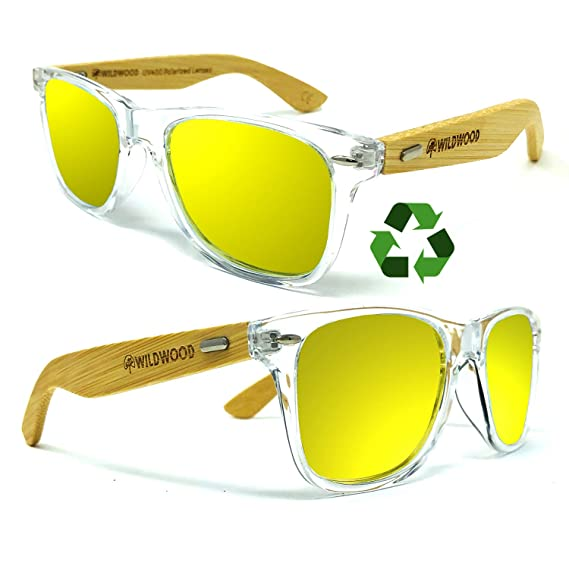 c36f2c9e573 Wildwood Polarized Sunglasses for Men and Women with Recycled Frames and Bamboo  Wood Arms