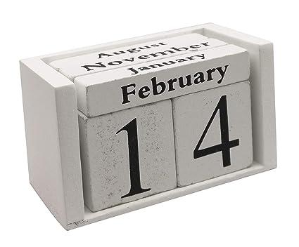 f87b2d9b5bf4 Amazon.com : Wooden Desk Blocks Calendar - Perpetual Block Month ...