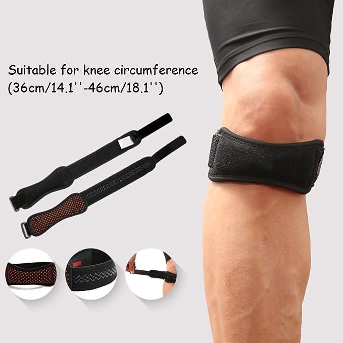 Kniest/ütze Bambus Bandage f/ür Knieschutz P Prettyia 1 Paar Kniebandage