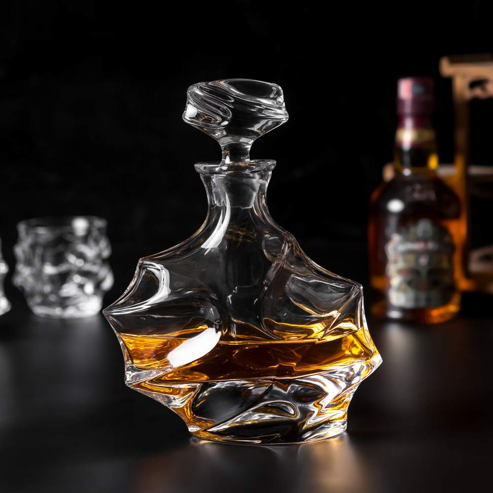 KANARS Emperor Whiskey Decanter And Glasses Set With Luxury Gift Box For Scotch + Bourbon + Liquor, 5-Piece, Original by KANARS (Image #7)