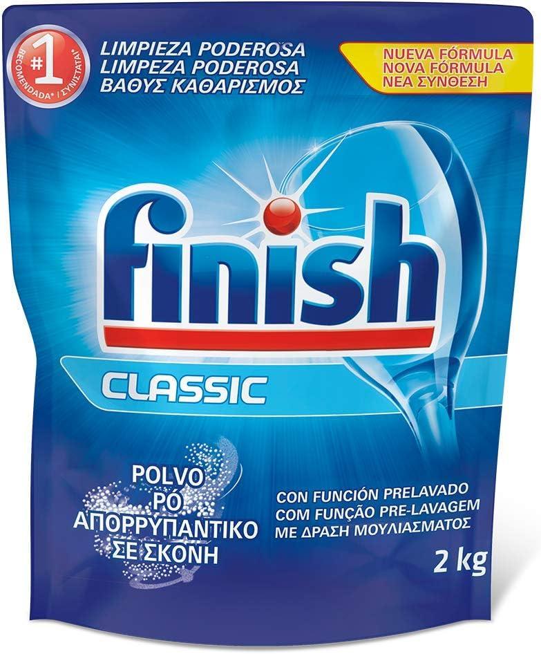 Finish Classic - Detergente para el lavavajillas, en polvo, 2 kg
