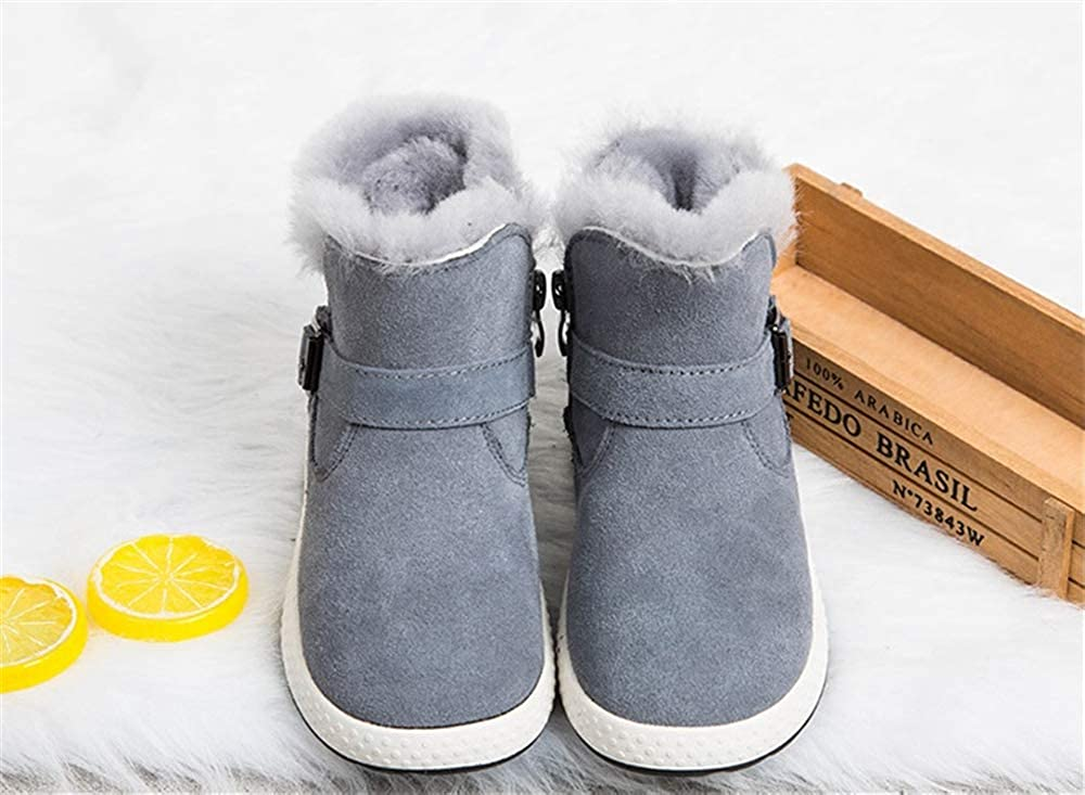 SUNNY Store Girls Toddler//Little Kid//Big Kid Faux Fur Lined Mid Calf Winter Snow Boots