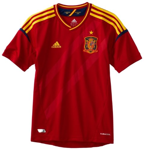 Spain Home Boys' Jersey (University Red, X-Large)