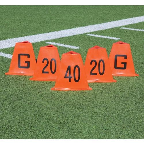 Poly 5pc Sideline Markers Flag Football