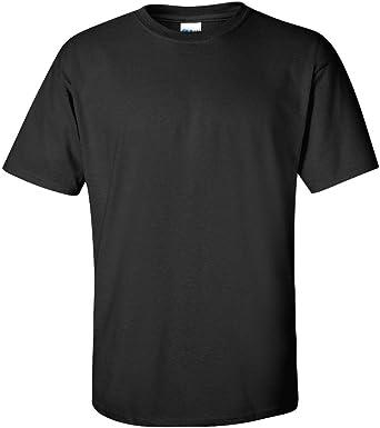 BLACK 5 Pack Mens GILDAN Plain Heavy Cotton Tshirt T Shirt Tee Blank All Sizes