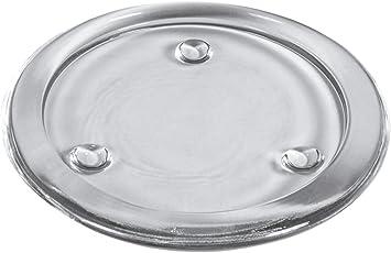24 Kerzenhalter Glas rund Ø 100 mm 20 mm glasklar für Stumpen
