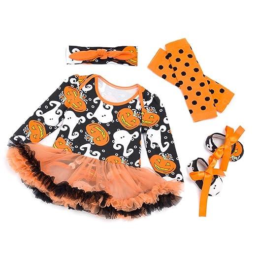 JOYOOY - Disfraz de Halloween para bebé niña Halloween Calabazas ...