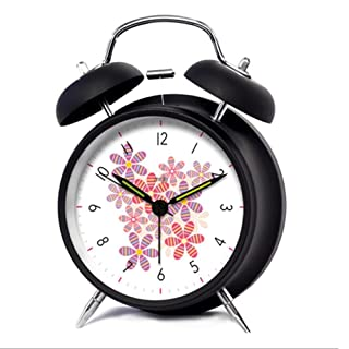 flash-creative Fashion Patterns Alarm clock moderno Nero