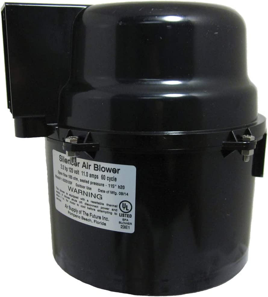 Silencer Spa Air Supply Blower 2.0HP 220V 6320220F