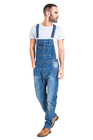 ed0cab187a7 USKEES Mens Relaxed Fit Stonewash Dungarees Quality Denim Bib Overalls