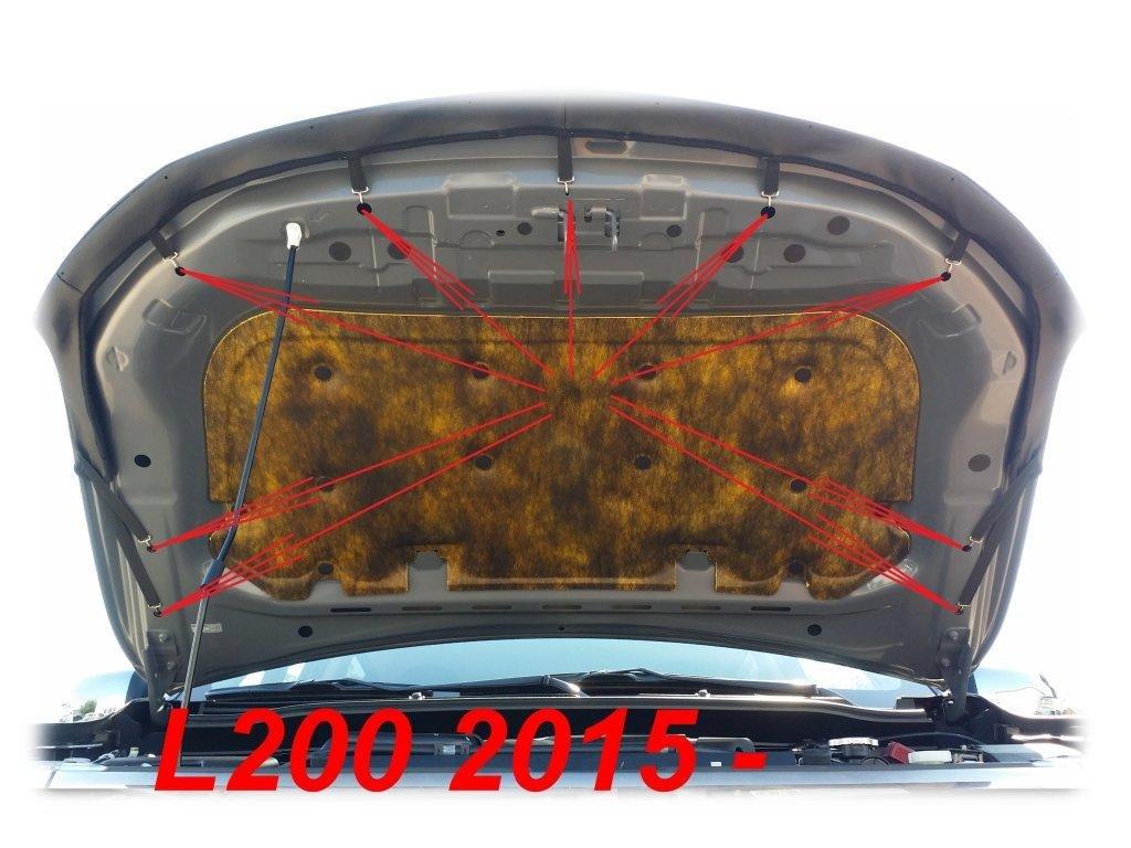 RAM 1200 seit 2015 Haubenbra Steinschlagschutz Tuning Bonnet Bra AB-00839 CARBON OPTIK BRA f/ür L200 Triton Fullback