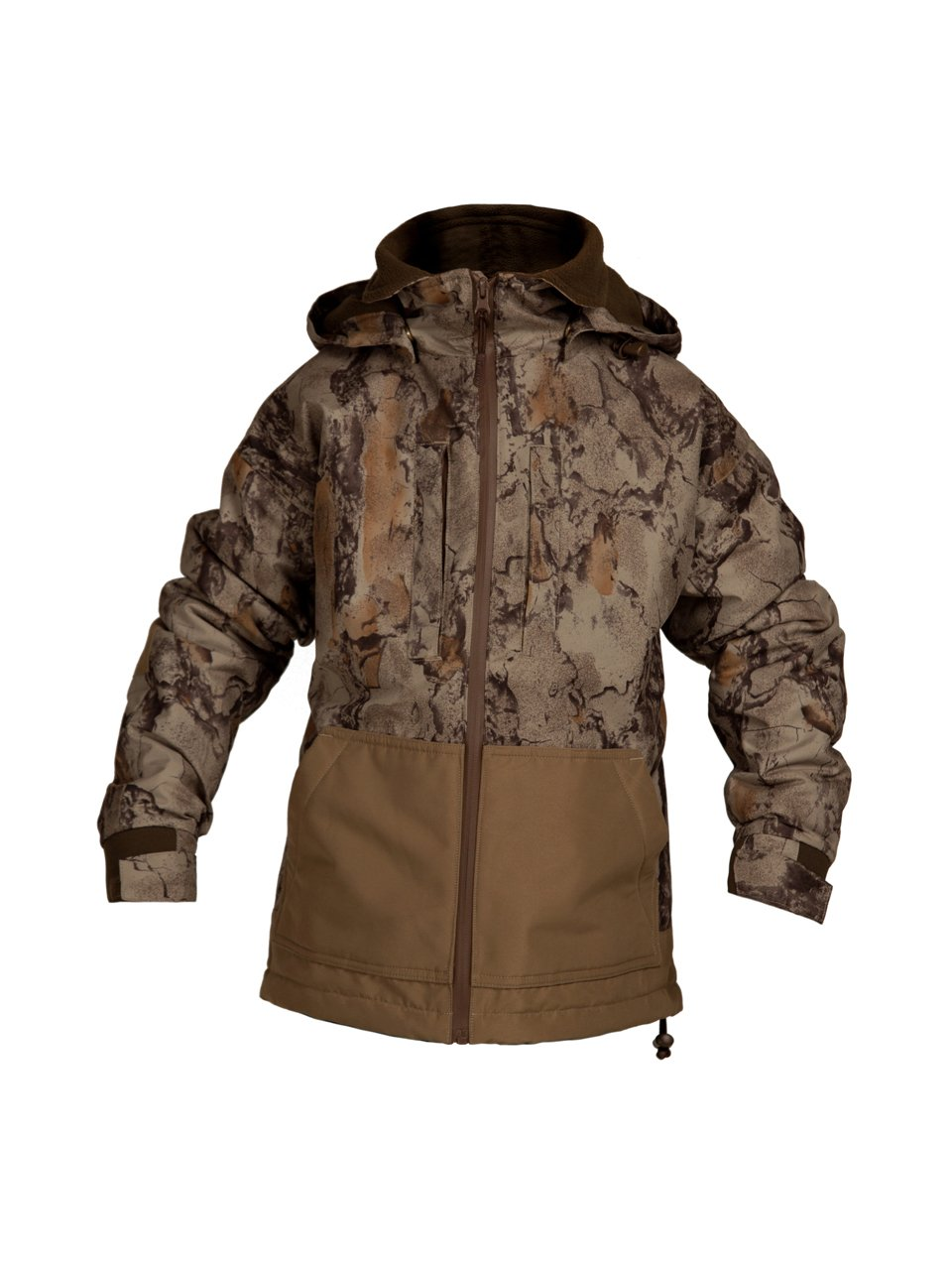796d2d5ea7675 100% DRI STALK RIGID SHELL MATERIAL: Our Natural Gear camo waterfowl jacket  is made entirely of Dri Stalk material, making it windproof and waterproof.