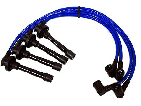 97 - 00 VMS Racing 10,2 mm de alto rendimiento motor Premium para bujías Cables Alambre Set en azul para Civic tipo R CTR EK9 DOHC VTEC - JDM B16 97 98 99 ...