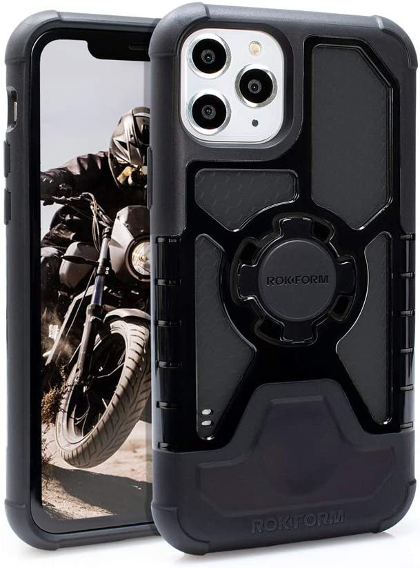 Rokform - iPhone 11 Pro Max Magnetic Case with Twist Lock, Crystal Slim Magnetic iPhone Case Series (Black)