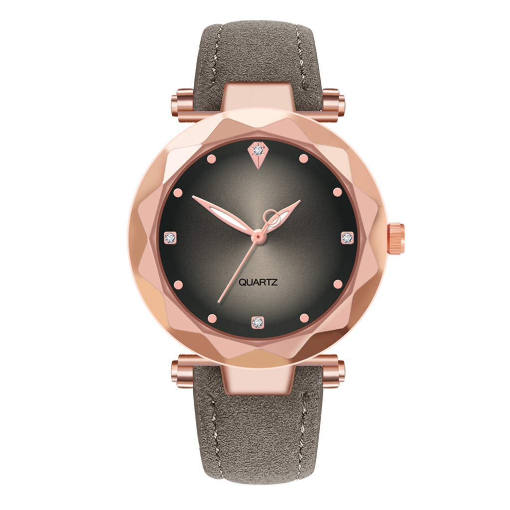 Toponly Fashion Women's Rose Gold Magnetic Buckle Bling Bling Starry Sky Watch with Mesh Steel Watches Band