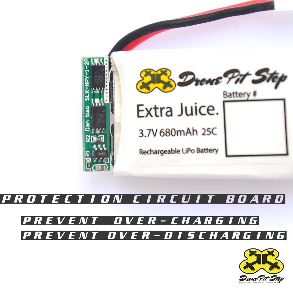 5pcs - 3,7 V 680 mAh Lipo batería para SYMA X5 C, x5sc, x5sw X5 A ...