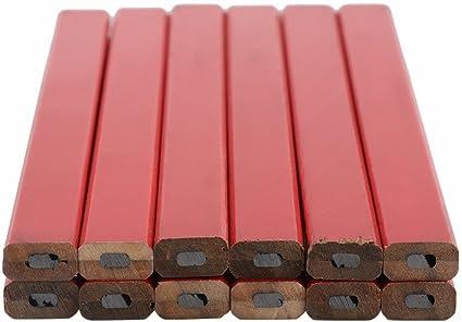 Holzmarker 72 Pcs 175 mm Messing Piombo Karpenteria Bleistift Bleistifte f/ür Zimmermannsbleistifte